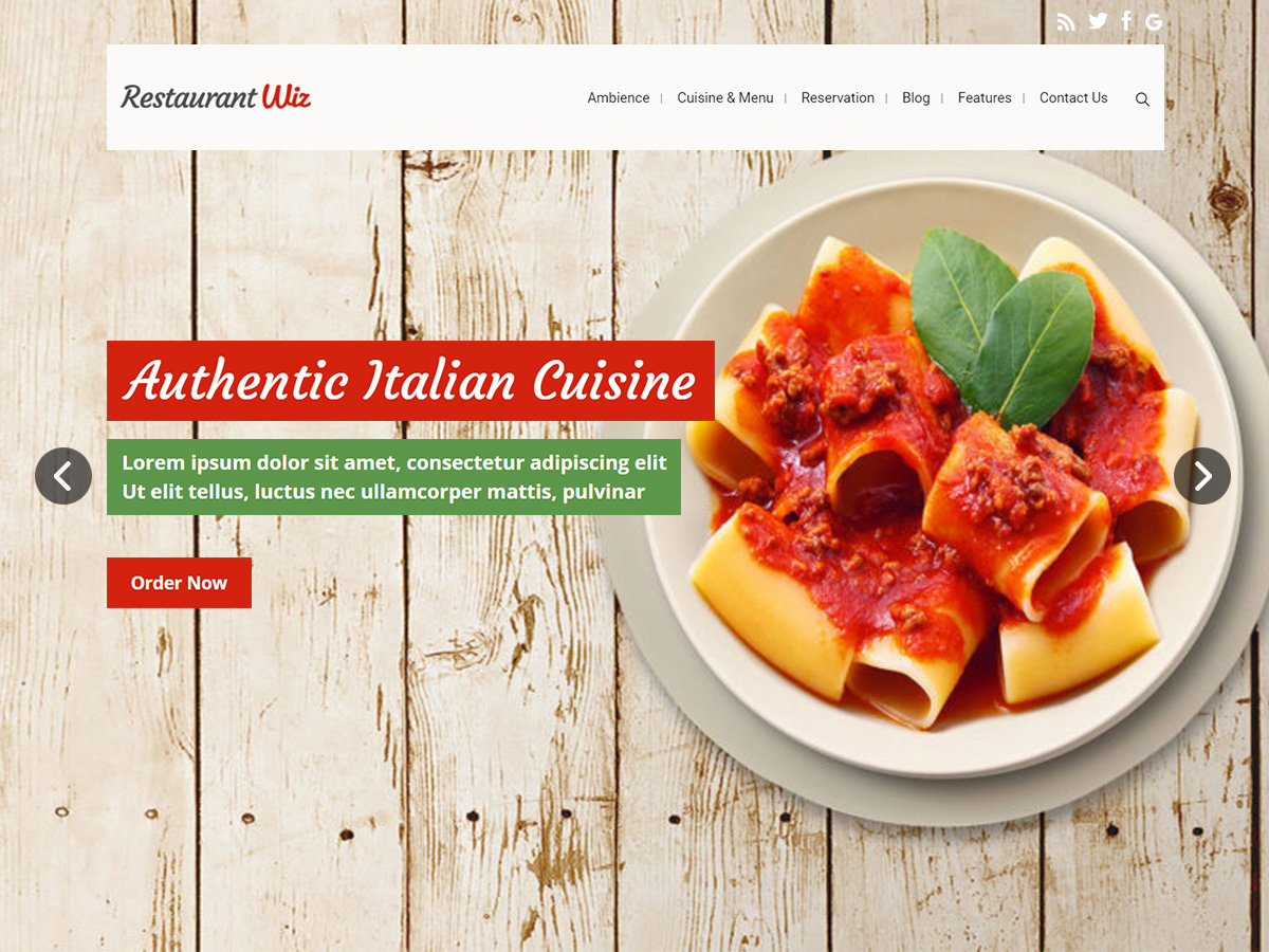 Restaurant Wiz for Elementor Page Builder and WPBakery