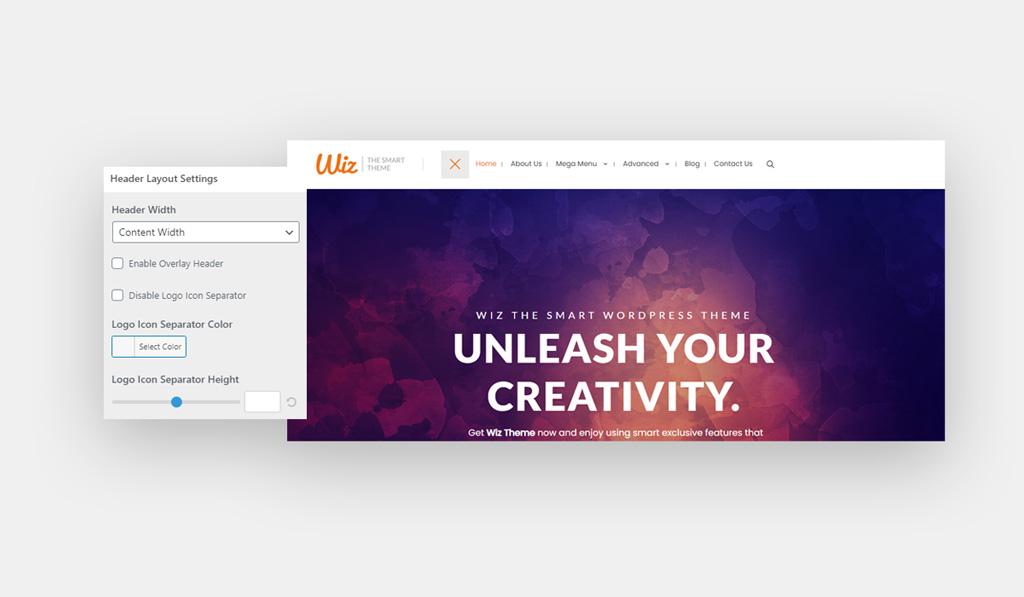 Header 8 for Wiz WordPress Theme