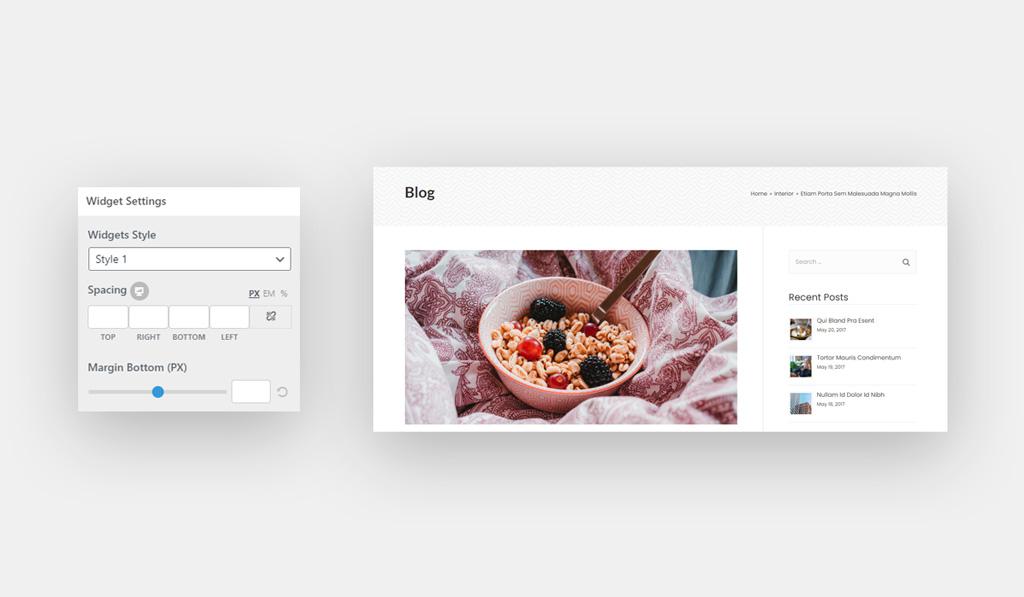 Sidebar Widget Settings for Wiz WordPress Theme