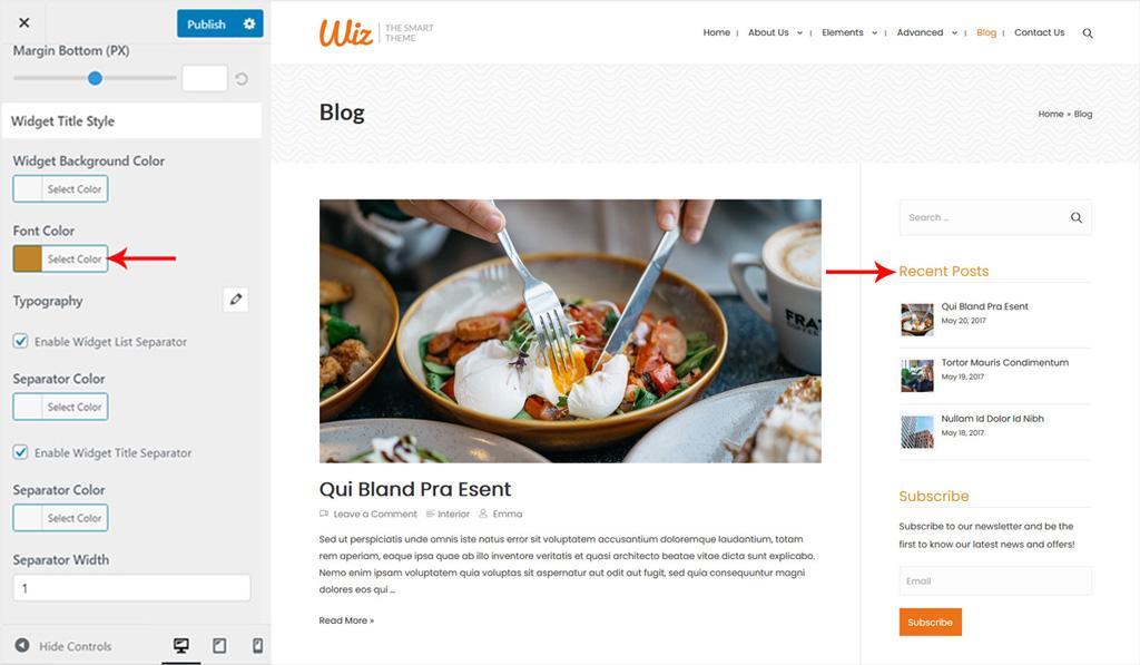 Widget Title Style for Wiz WordPress Theme