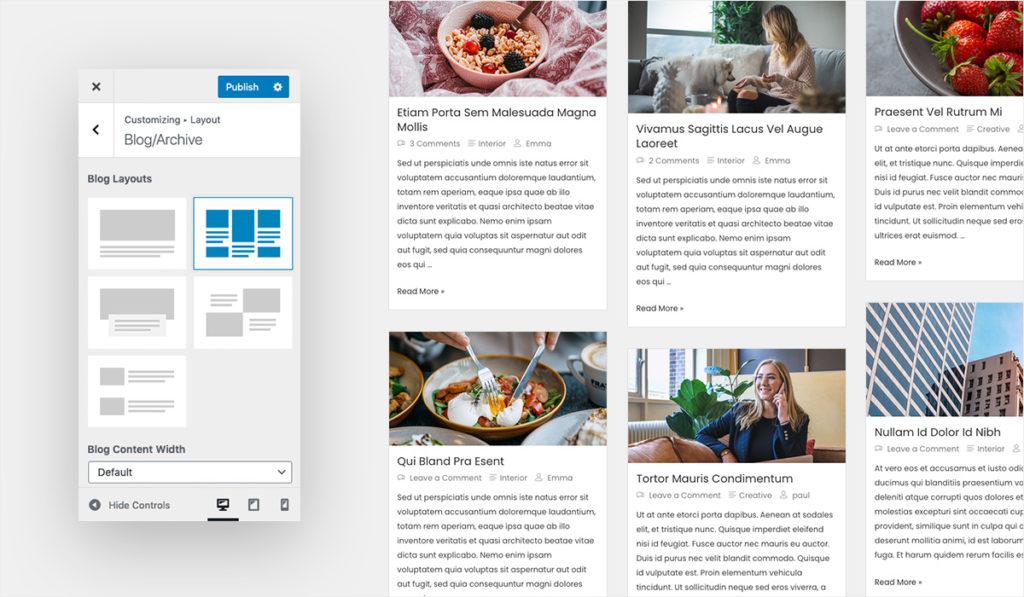 Blog Layout 2 for Wiz WordPress Theme