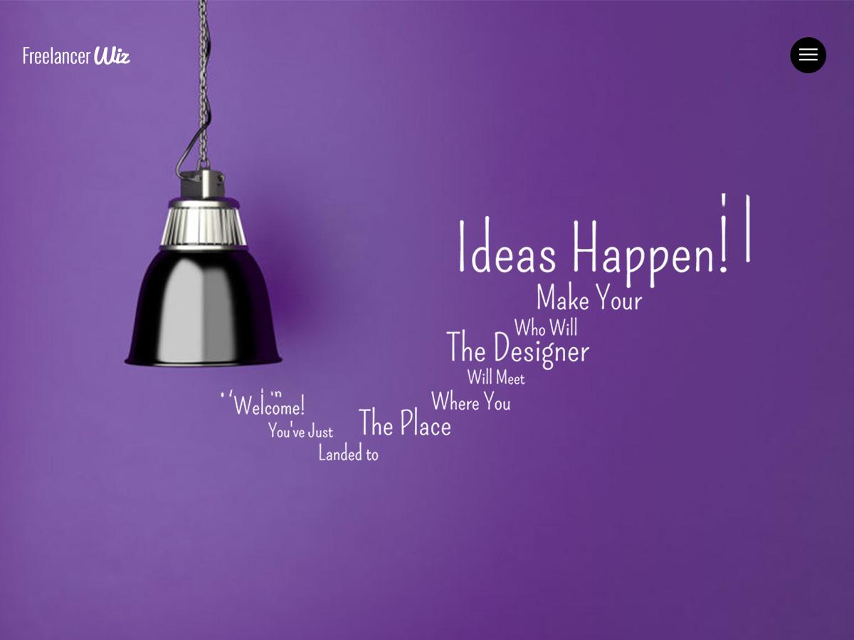 Freelancer Modern Portfolio Based Website for Wiz The Smart Multipurpose WordPress Theme