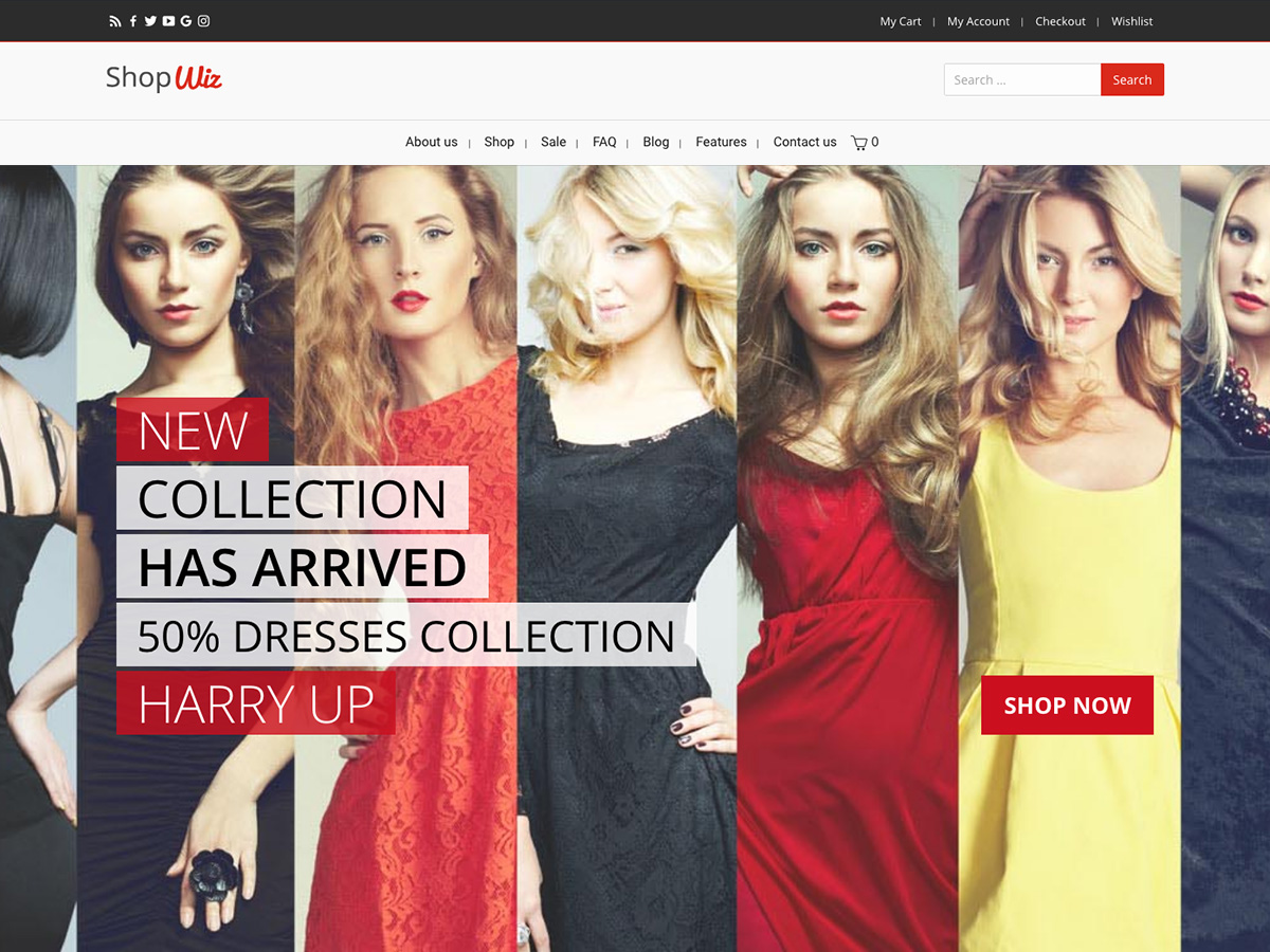 Shop e-Commerce Based Website Layout for Elementor and WPBakery Page Builders