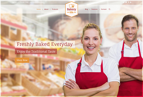 Bakery Wiz Website Layout Shows Header 03