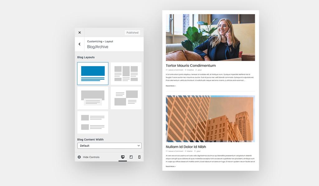 Blog Layout 1 for Wiz WordPress Theme