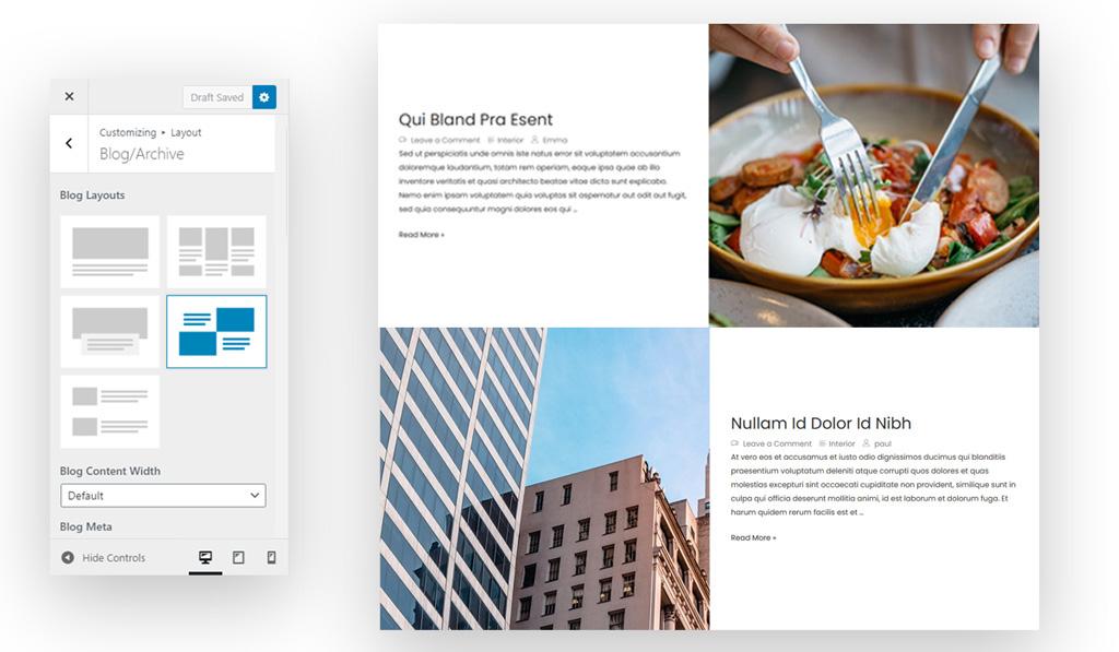 Blog Page Layout 4 for Wiz WordPress Theme