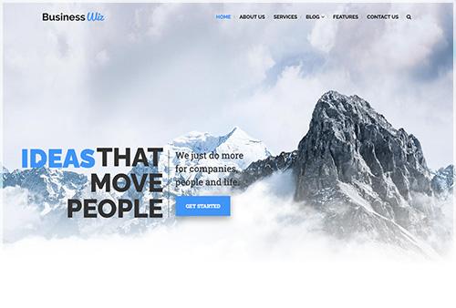Business Based Website Layout Showing Header 01