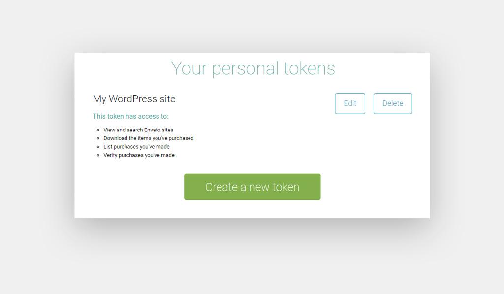 Envato Access Token Permissions