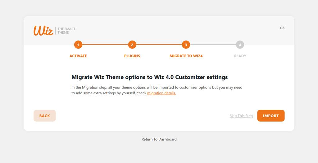 Migrate Wiz Settings to Wiz 4.0