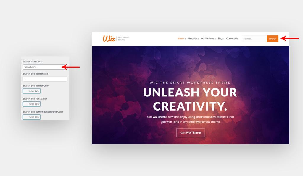 Search Box for Wiz WordPress Theme