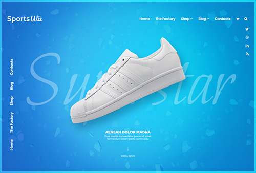 Sports WooCommerce Layout Displays Header 09