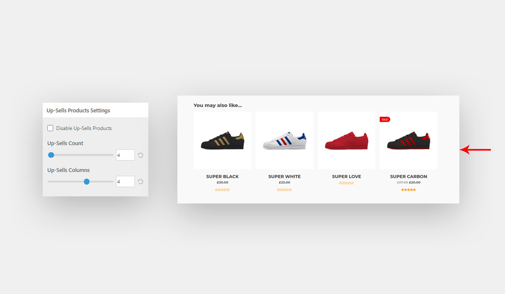 Up Sells Product in WooCommerce