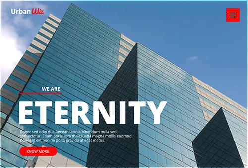 Urban Wiz Architecture Website Layout Shows Header 07