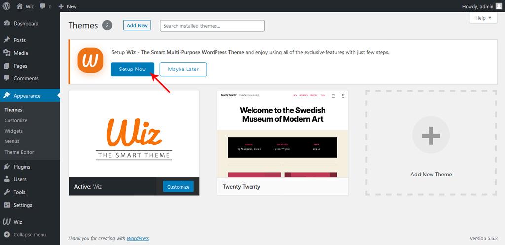 Wiz WordPress Theme Wizard