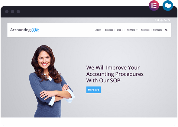 Accounting Wiz is a Website Layout for Wiz The Smart Multipurpose WordPress Theme
