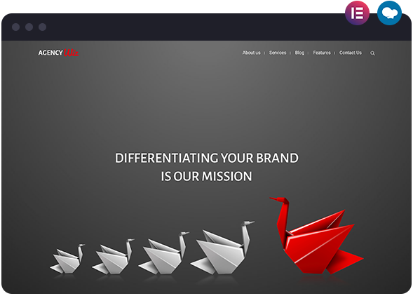 Agency Wiz Layout Available in Wiz WordPress Theme