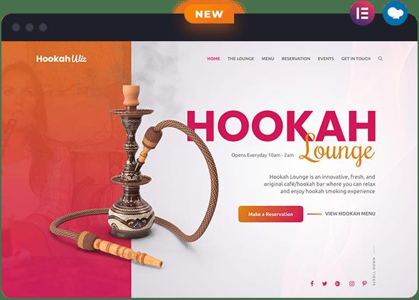 Hookah Website Layout for Wiz The Smart WordPress Theme