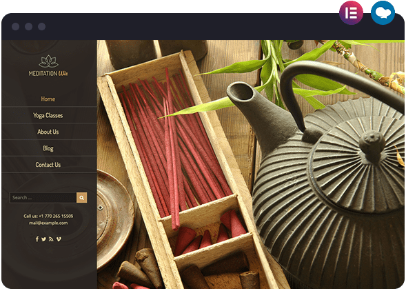 Meditation Website Layout Available in Wis The Smart Theme