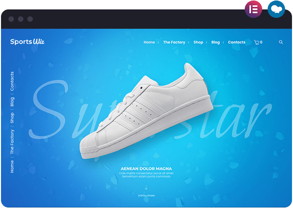 Sports is a WooCommerce Shop Based Website Built with Elementor and WPBakery Page Builder