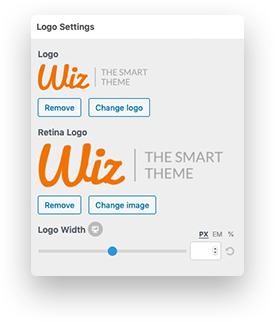 Logo Settings Available in Wiz The Smart Theme