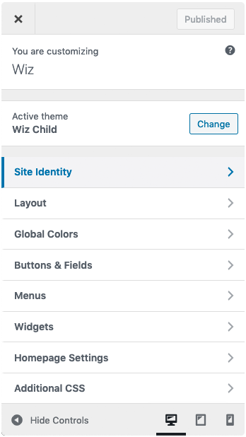 Wiz The Smart WordPress Theme Customizer Controls