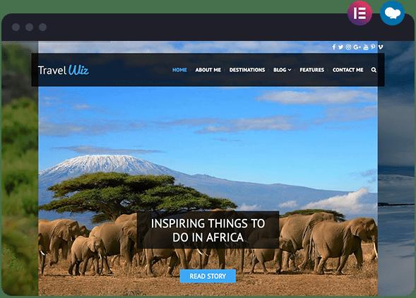 Travel Blog Based Website Built for Wiz The Smart WordPress Theme