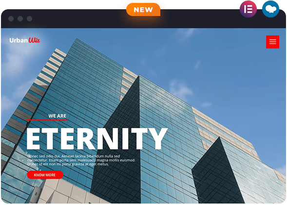Urban Elementor Demo Available on Wiz The Smart WordPress Theme