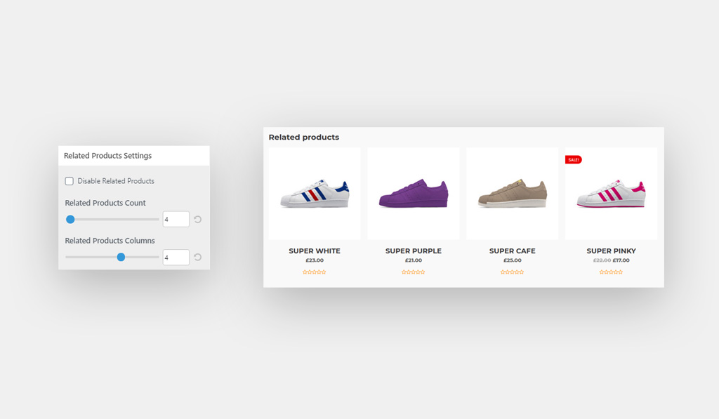 WooCommerce Related Products Settings for Wiz WordPress Theme