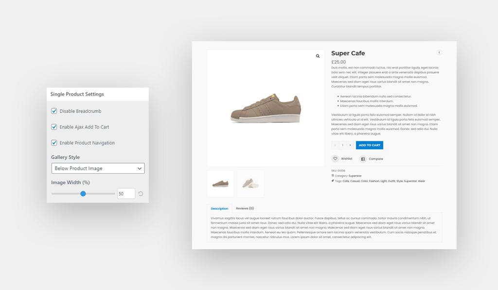 Woocommerce Single Product Options Wiz WordPress Theme